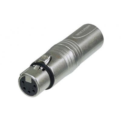 Adaptateur XLR 3 poles Mâle / XLR 5 poles Femelle