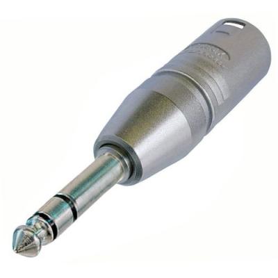 Adaptateur XLR 3 poles Mâle / Jack 6,35 stéréo Mâle Format connecteur