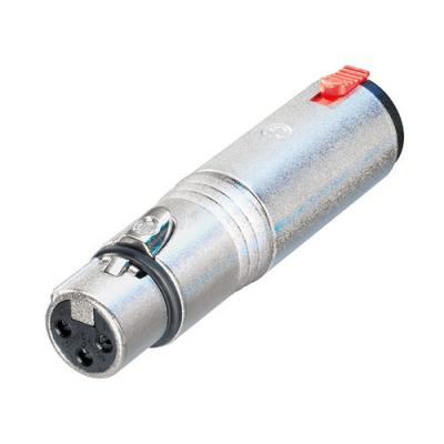 Adaptateur XLR 3 poles Femelle / Jack 6,35 stéréo Femelle Format connecteur