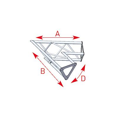 Angle 2 départs 60° lg 0m40 x 0m40 - 57ASD1521