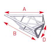Angle 2 départs 45° lg 0m40 x 0m40 - ASD1520