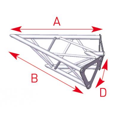 Angle 2 départs 45° lg 0m40 x 0m40 - 57ASD1520