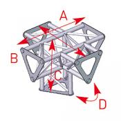 Angle vertical 5 départs 90° pied lg 0m25 x 0m35 x 0m35 - ASD1551