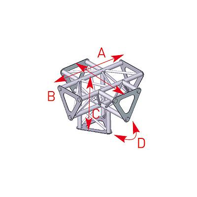 Angle vertical 5 départs 90° pied lg 0m25 x 0m35 x 0m35 -