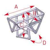Angle vertical 4 départs 90° pied lg 0m25 x 0m25 x 0m35 - ASD1542