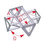 Angle 4 départs 90° lg 0m35 x 0m35 - ASD1541