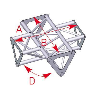 Angle 4 départs 90° lg 0m35 x 0m35 - 57ASD1541