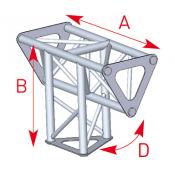 Angle vertical 3 départs 90° lg 0m25 x 0m35 - ASD1534