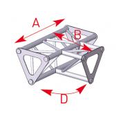 Angle 3 départs 90° à plat lg 0m25 x 0m25 x 0m35 - ASD1533