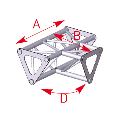 Angle 3 départs 90° à plat lg 0m25 x 0m25 x 0m35 - 57ASD1533