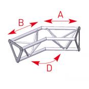 Angle 2 départs 135° lg 0m25 x 0m25 - ASD1525