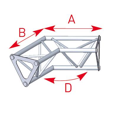 Angle 2 départs 120° lg 0m25 x 0m25 - 57ASD1524