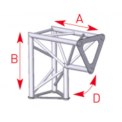 Angle 2 départs 90° vertical lg 0m25 x 0m25 - ASD1523
