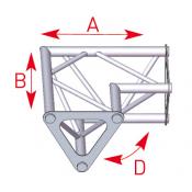 Angle 2 départs 90° horizontal lg 0m25 x 0m25 - ASD1522