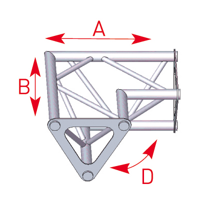 Angle 2 départs 90° horizontal lg 0m25 x 0m25 - 57ASD1522