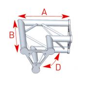 Angle 2 départs 90° lg 0m40 x 0m40 - ASD22