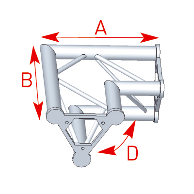 Angle 2 départs 90° lg 0m40 x 0m40 - 57ASD22