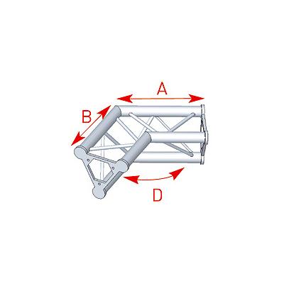 Angle 2 départs 120° lg 0m40 x 0m40 - 57ASD24