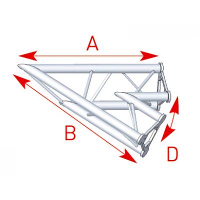 Angle 2 départs 45° lg 0m80 x 0m80 - 57ASD20
