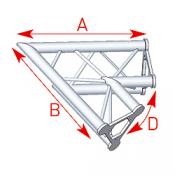 Angle 2 départs 60° lg 0m80 x 0m80 - ASD21