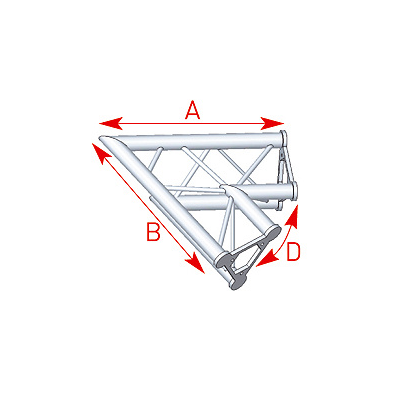 Angle 2 départs 60° lg 0m80 x 0m80 - 57ASD21