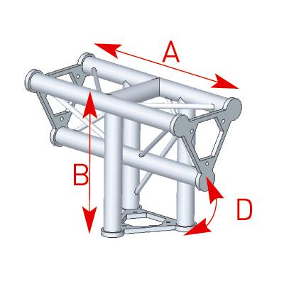 Angle 3 départs 90° vertical lg 0m40 x 0m55 - 57ASD34
