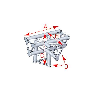 Angle 4 départs 90° pied lg 0m40 x 0m40 x 0m55 - 57ASD42
