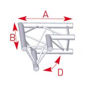 Angle 2 départs horizontal 90° lg 0m50 x 0m50- ASX22