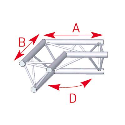 Angle 2 départs 120° lg 0m50 x 0m50 - 57ASX24