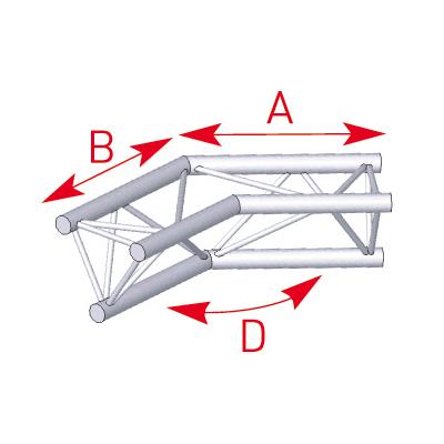 Angle 2 départs 135° lg 0m50 x 0m50- 57ASX25