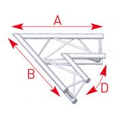 Angle 2 départs 60° lg 1m00 x 1m00- ASX21