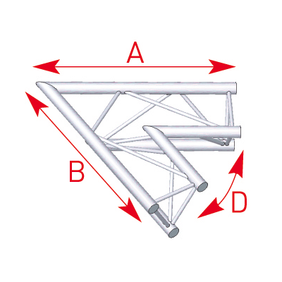 Angle 2 départs 60° lg 1m00 x 1m00- 57ASX21