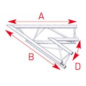 Angle 2 départs 45° lg 1m00 x 1m00- ASX20