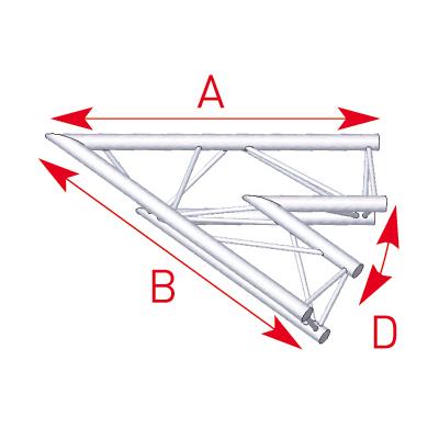 Angle 2 départs 45° lg 1m00 x 1m00- 57ASX20