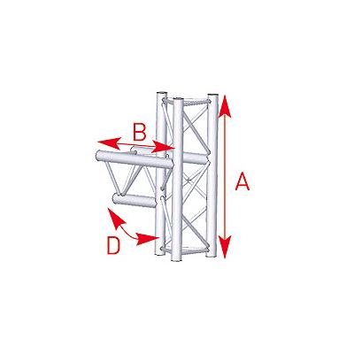 Angle médian 3 départs 90° lg 0m50 x 0m71- 57ASX35