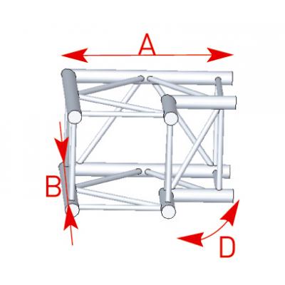 Angle 2 départs 90° lg 0m50 x 0m50 - 57ASZ22