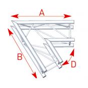 Angle 2 départs 60° lg 1m00 x 1m00 - ASZ21