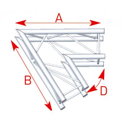 Angle 2 départs 60° lg 1m00 x 1m00 - 57ASZ21