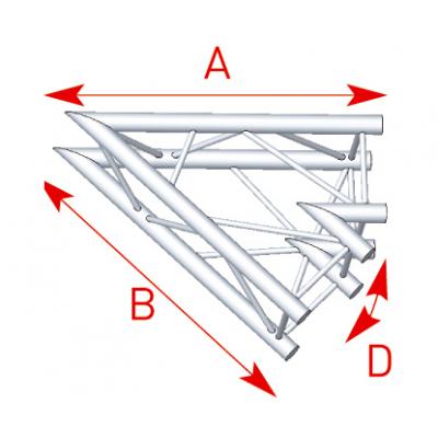 Angle 2 départs 45° lg 1m00 x 1m00 - 57ASZ20