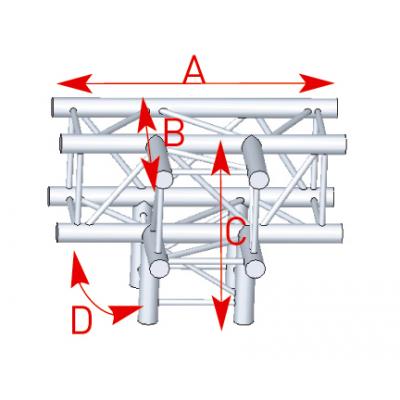 Angle 4 départs 90° pied lg 0m50 x 0m50 x 0m71 - 57ASZ42