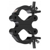 Collier Double Pivotant pour tube 50mm Noir