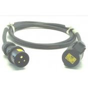 Prolongateur 2P+T 16A C17 110V jaune