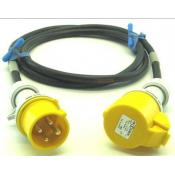 Prolongateur jaune 3P+T 10A CEE17